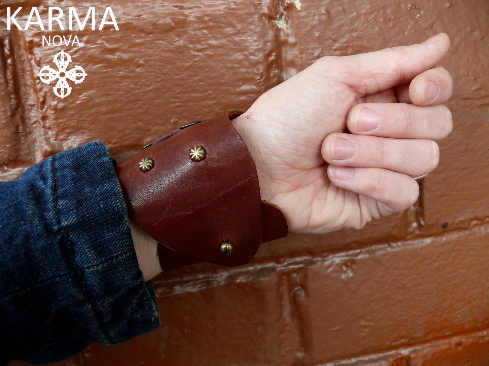 Браслеты на руку из натуральной кожи своими руками