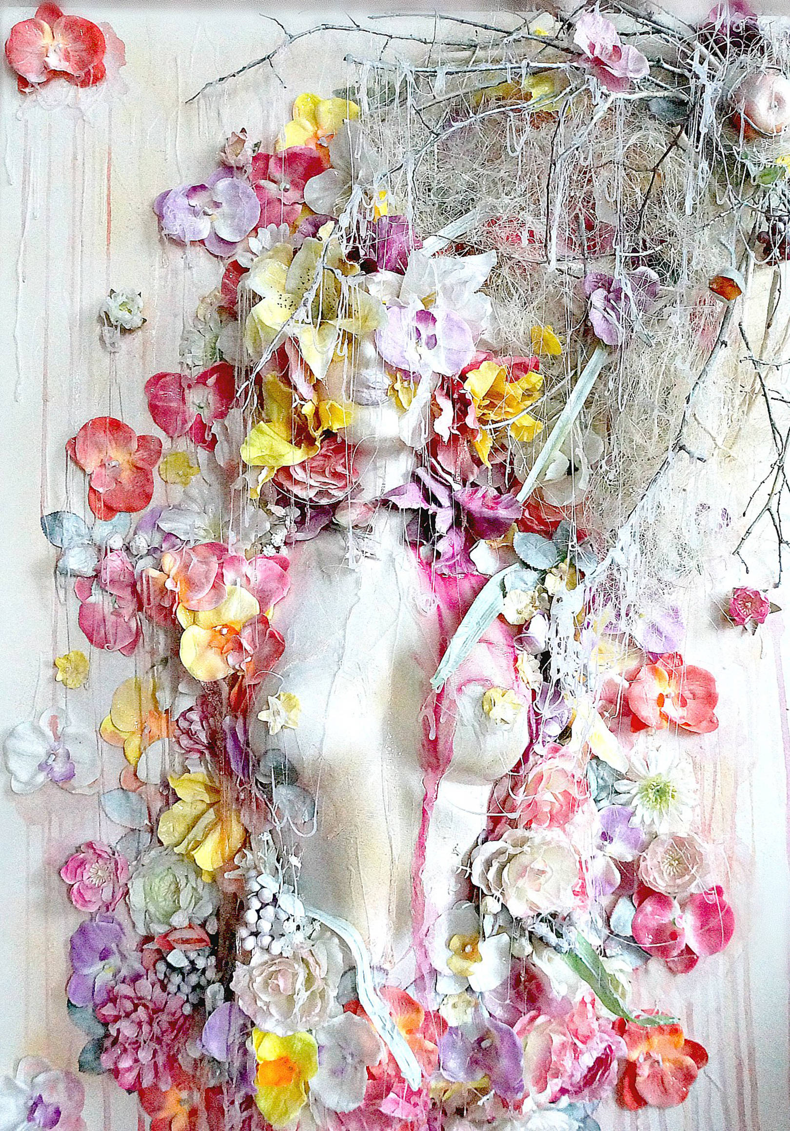 Объемные картины цветы своими руками 21