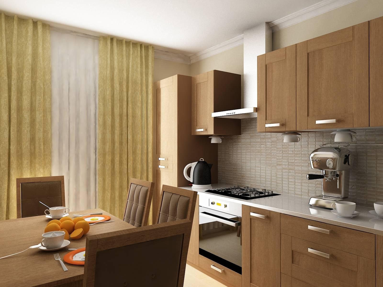 Интерьер кухни в стандартной квартире