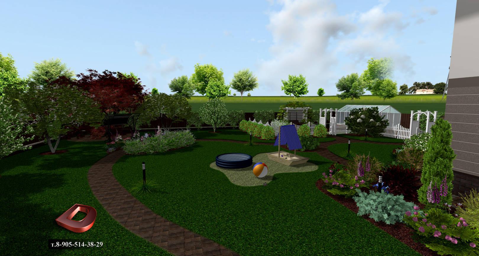 Фото ландшафтного дизайна дачного участка 12 соток