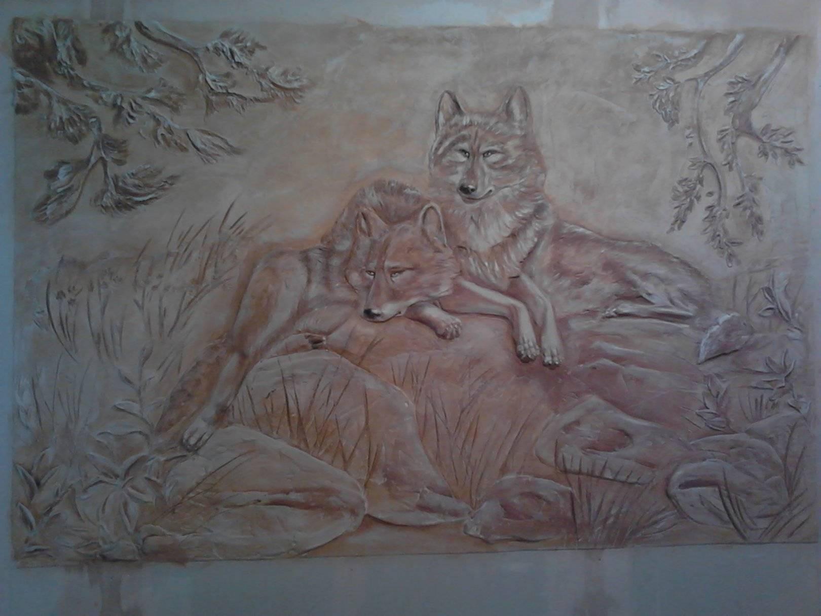 Барельеф на стенах своими руками животные
