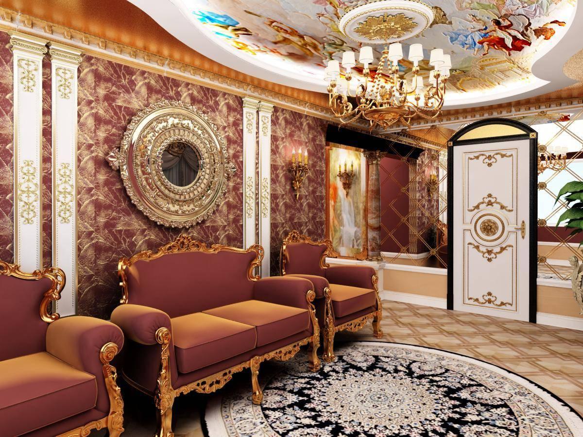 Интерьер гостиной фото в стиле барокко