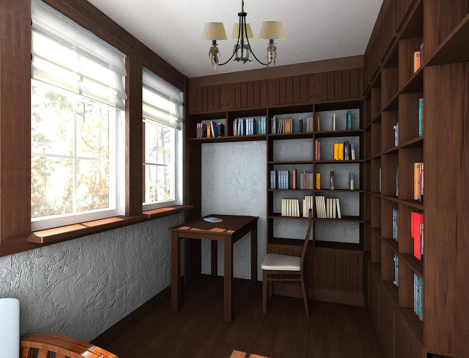 Кабинет; библиотека в стиле смешанный - фото и дизайн на viv.