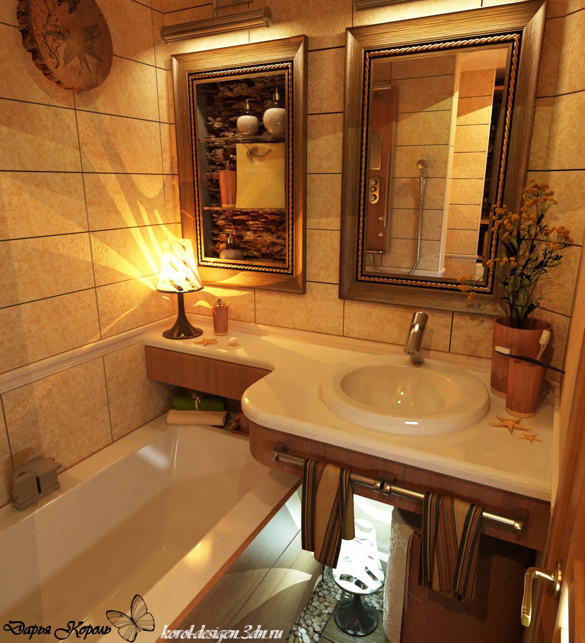 Дизайн ванной комнаты раковина столешница