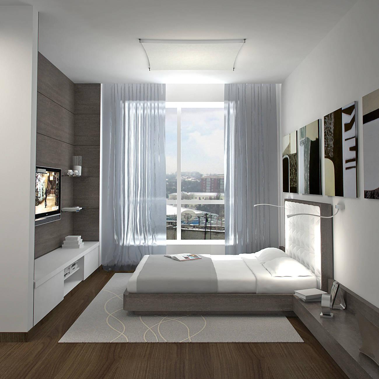 Дизайн комнаты с витражными окнами