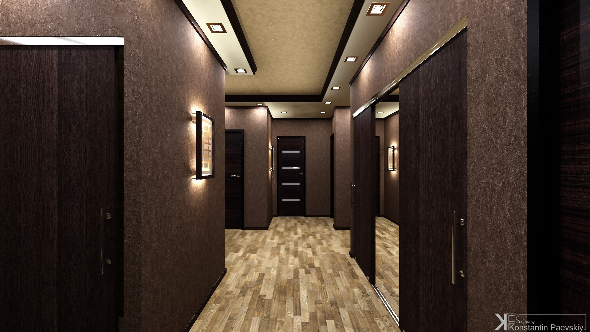 Коричневый коридор фото