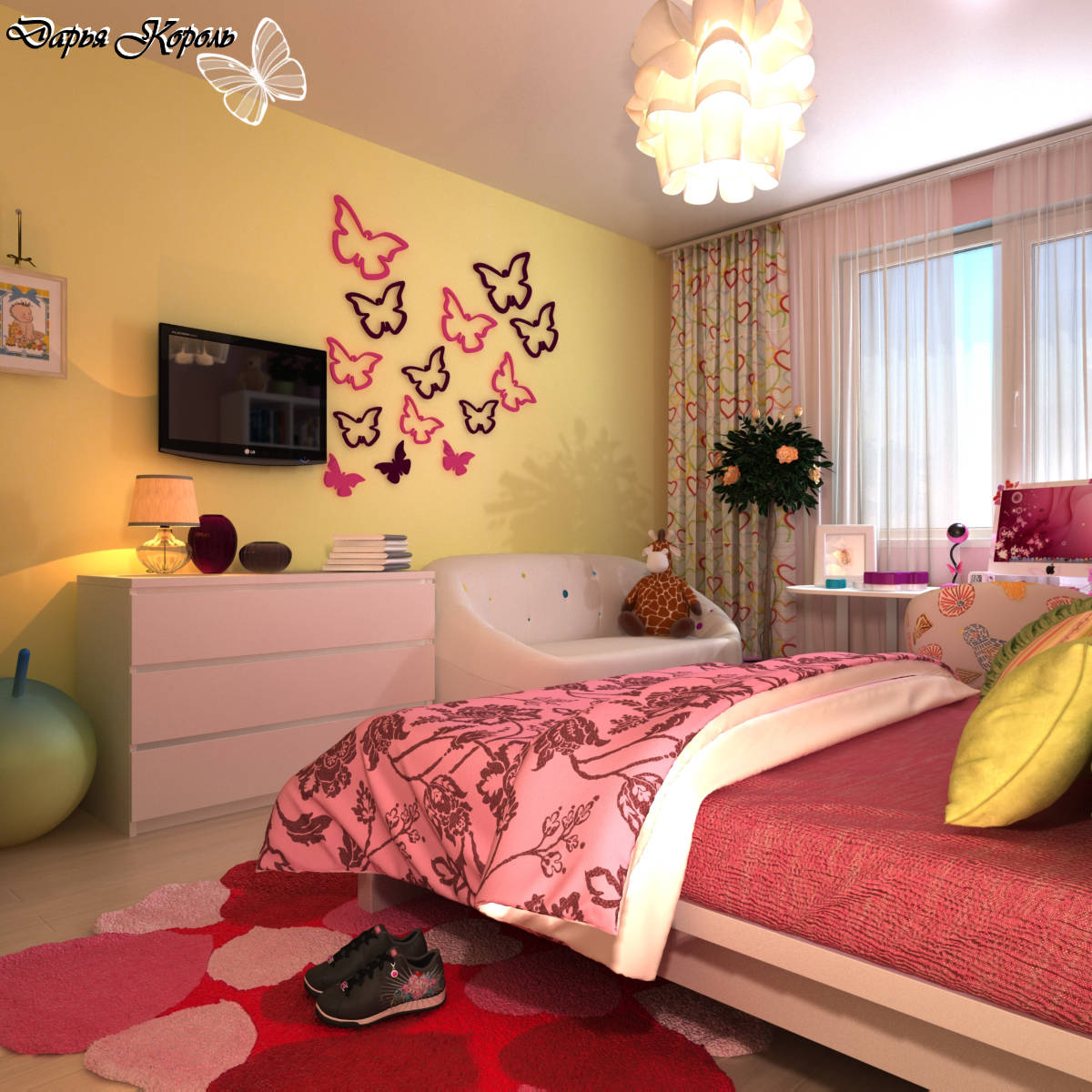 Ремонт комнаты девочек подростков