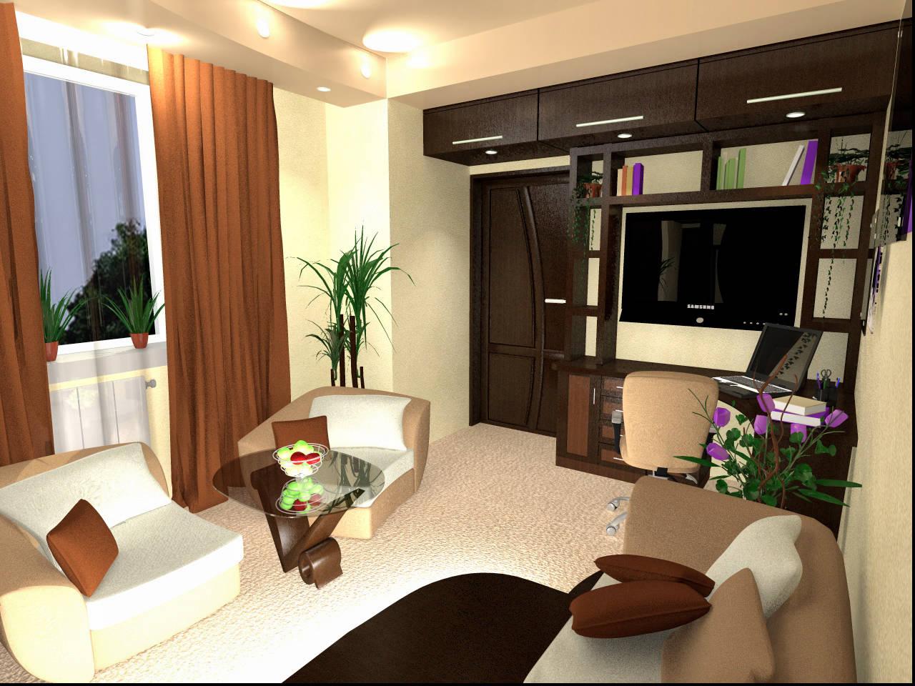 Дизайн 19 кв.м зонирования