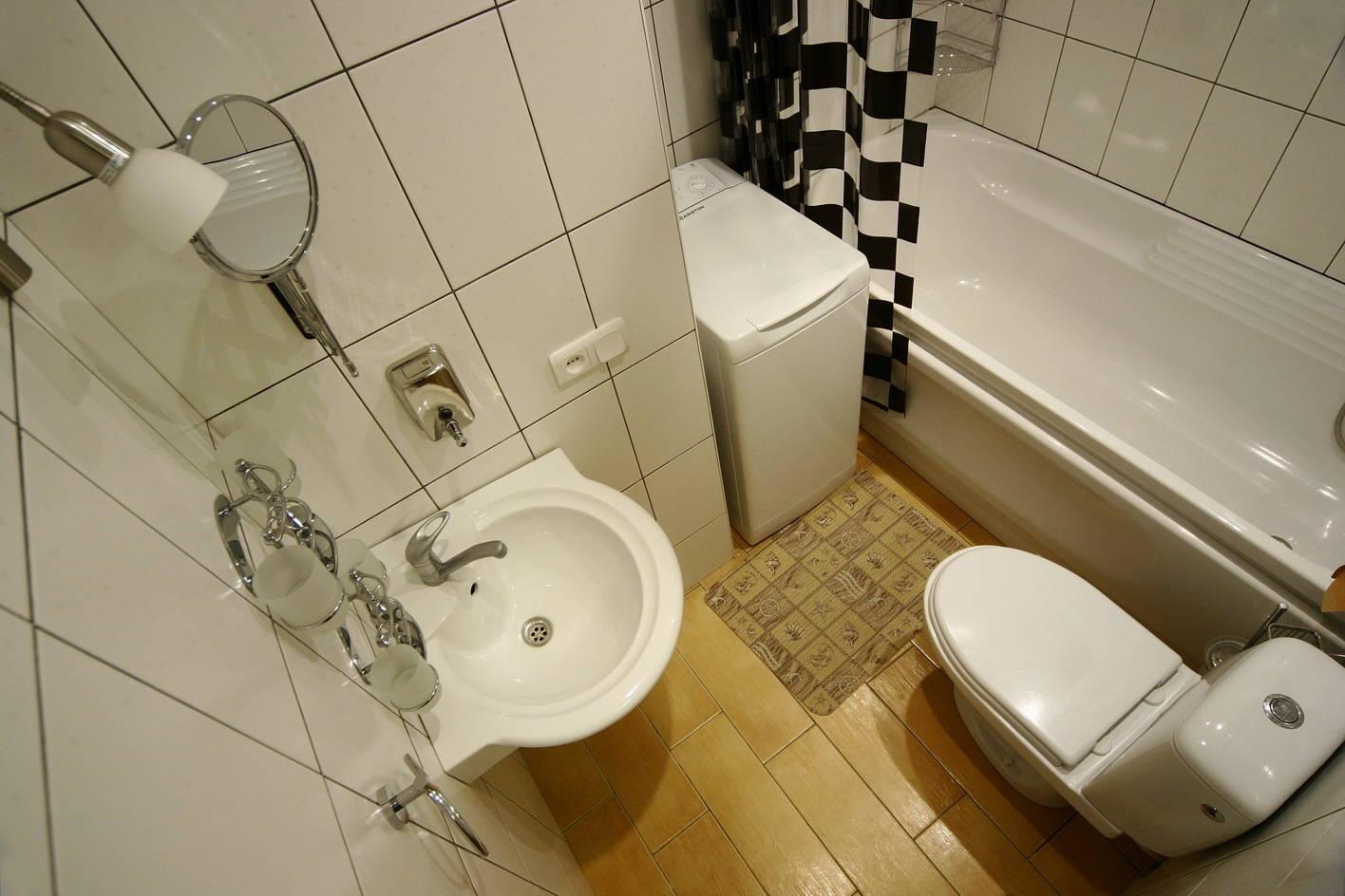 Совмещенная ванная в панельном доме дизайн
