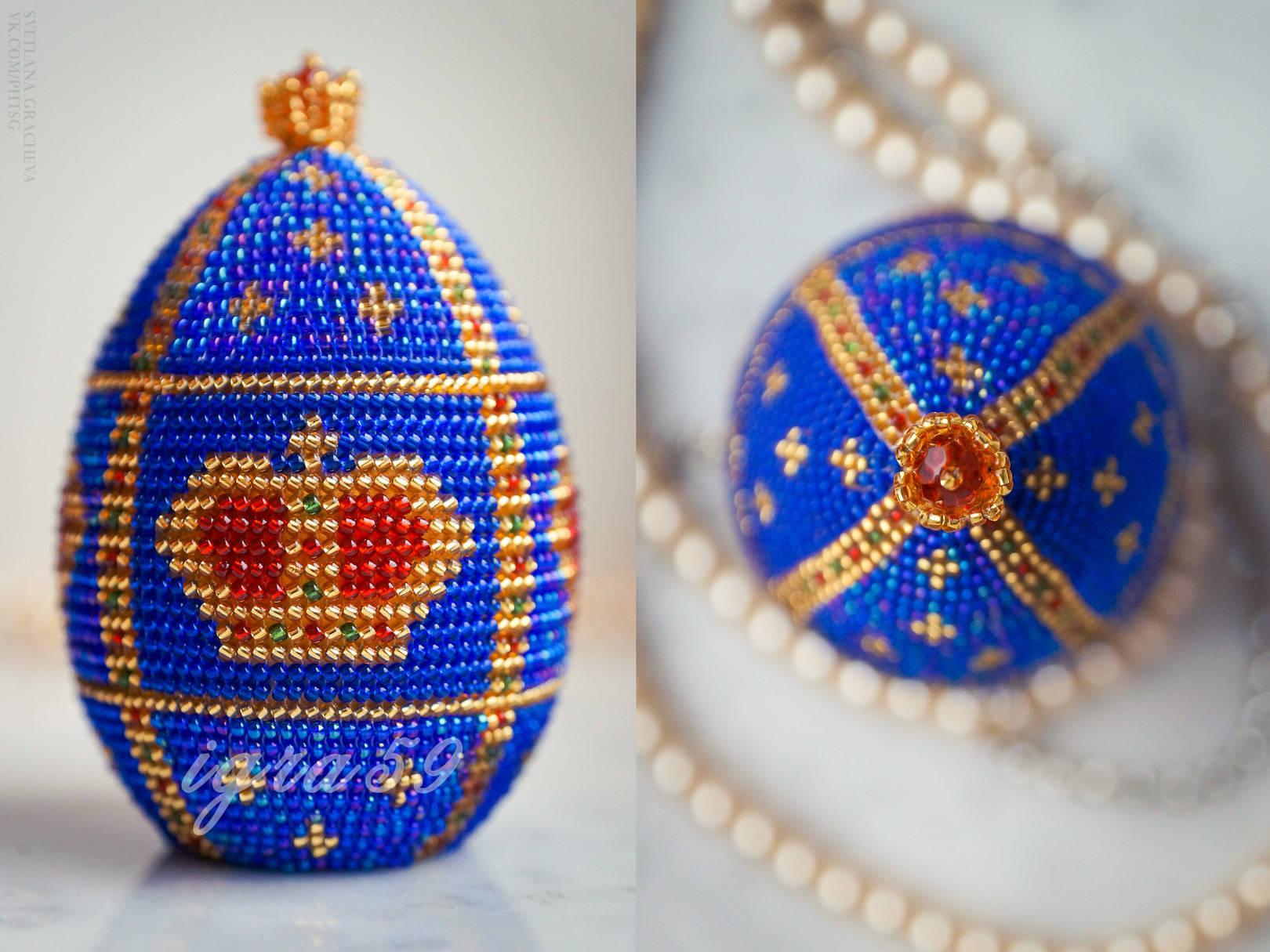 Фото яйца фаберже из бисера