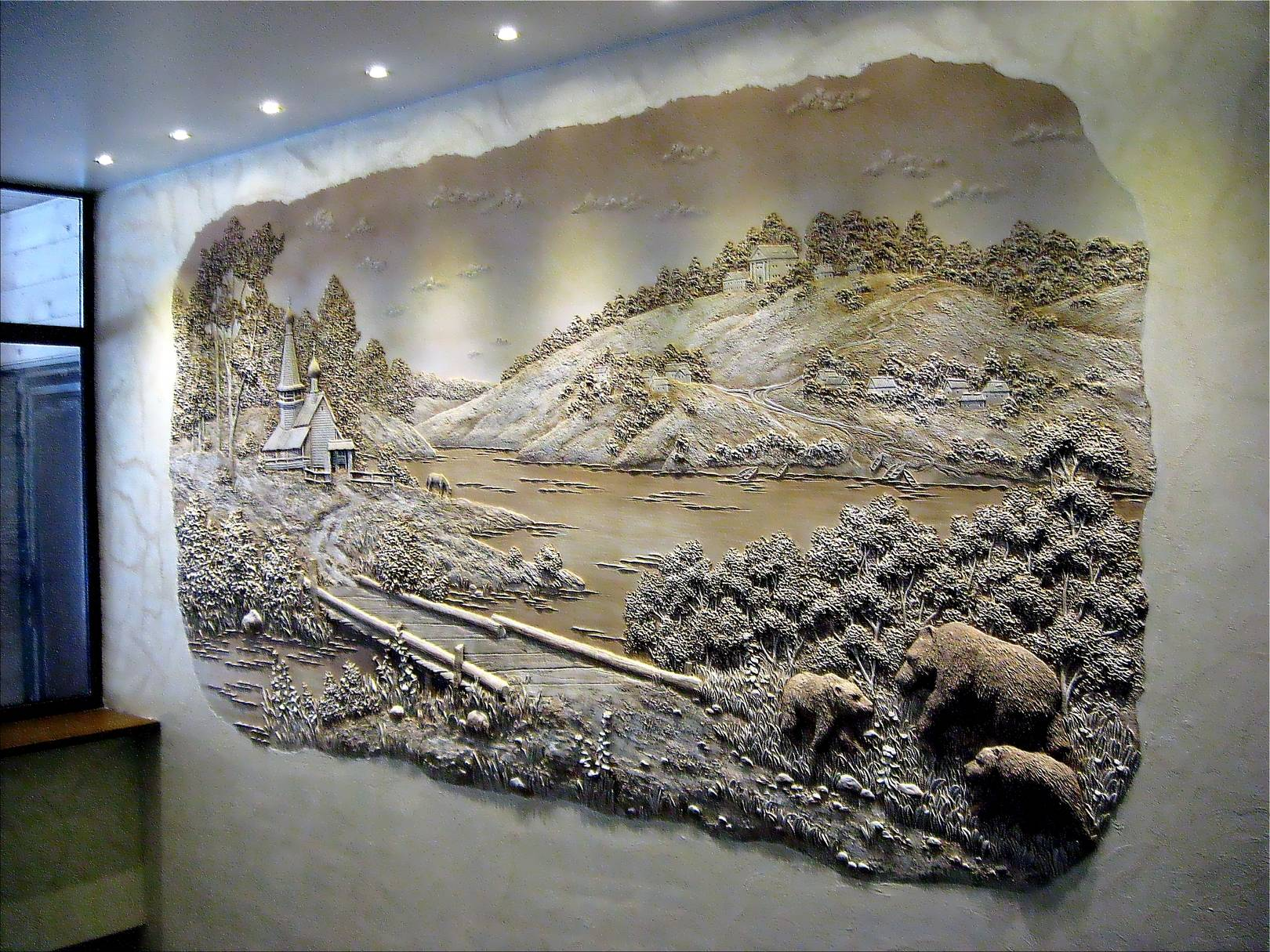 Гипсовое панно своими руками на стену 56
