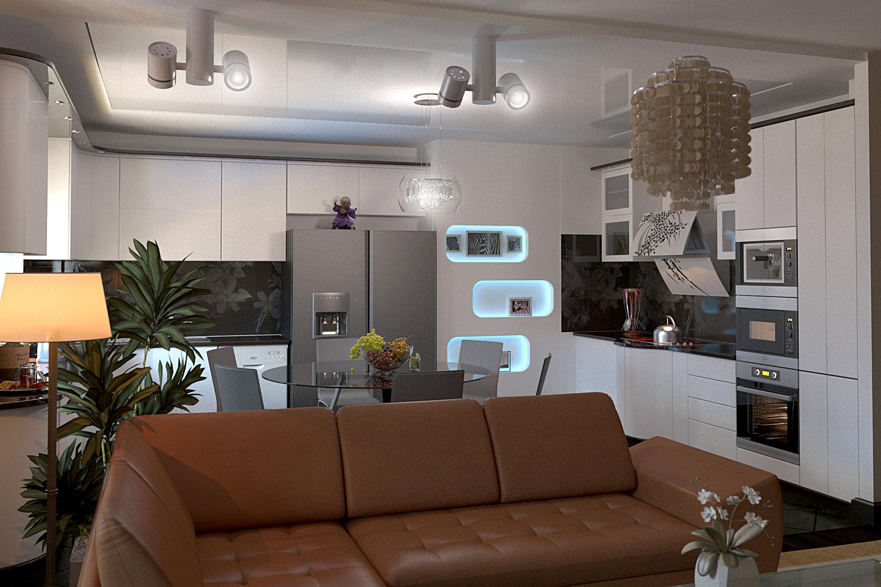Дизайн квартиры 120 м