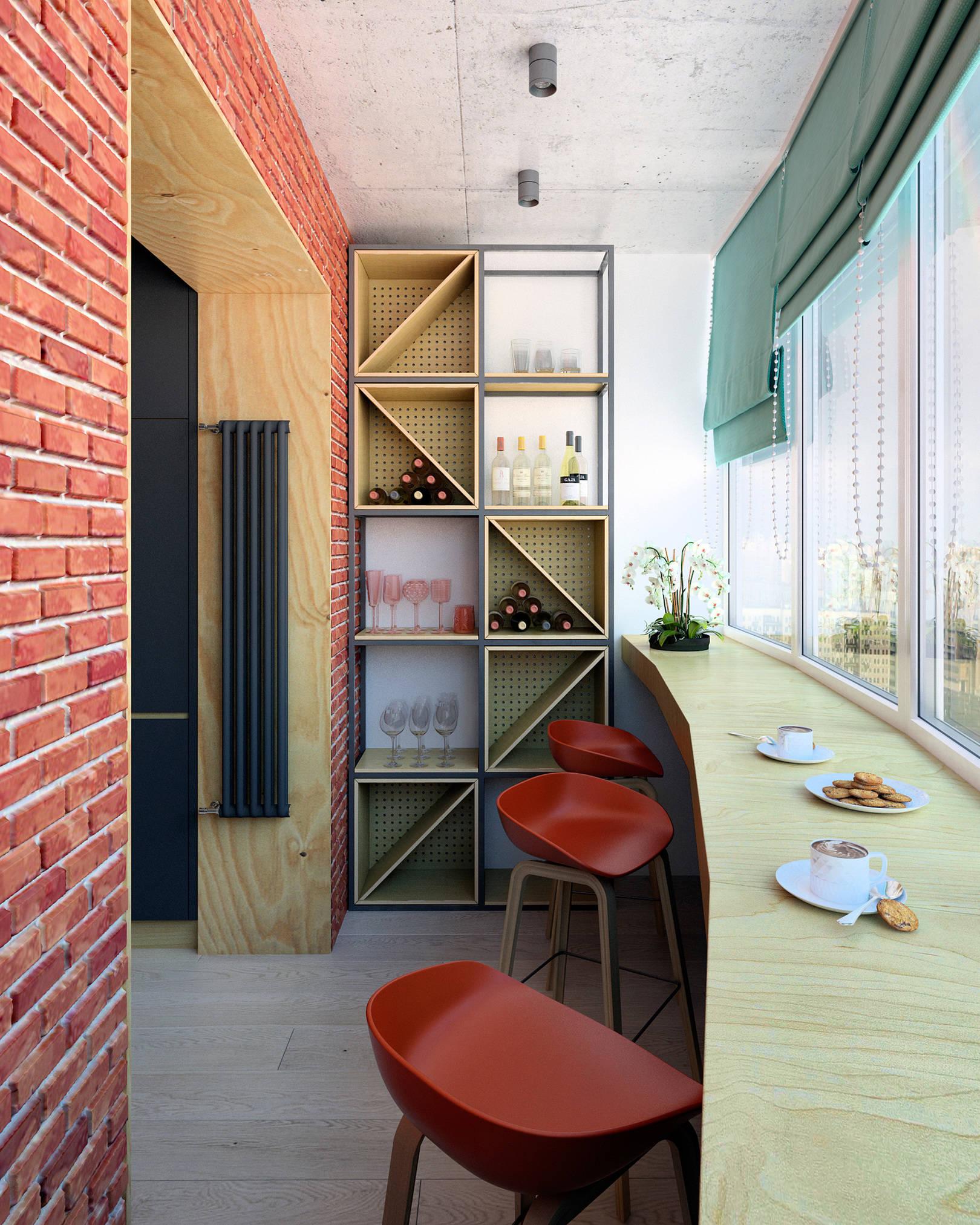 С барной стойкой дизайн балкона и лоджии фото with regard to.