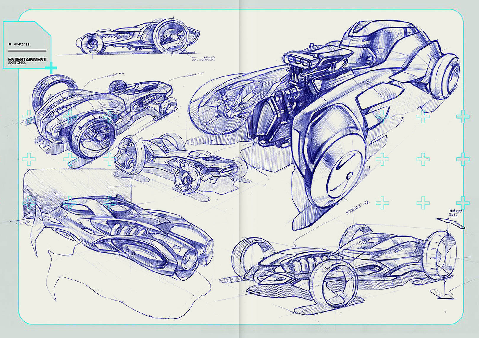 Various automotive sketches