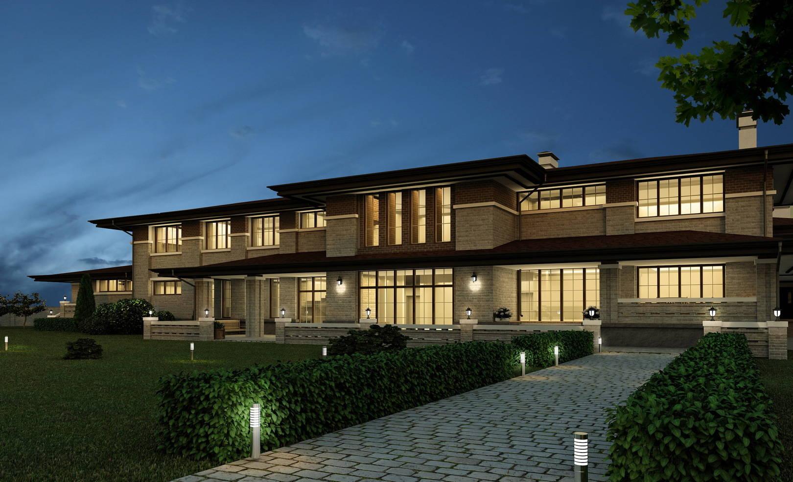 дом в стиле Л.Райта органическая архитектура