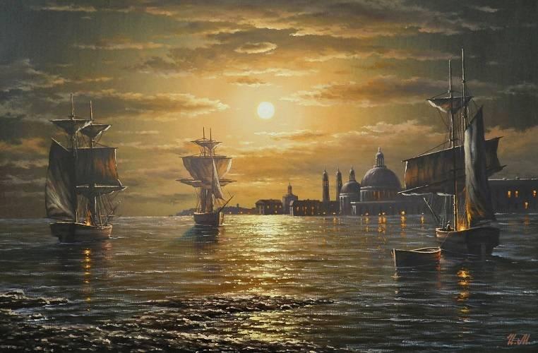 Венеция в лунную ночь