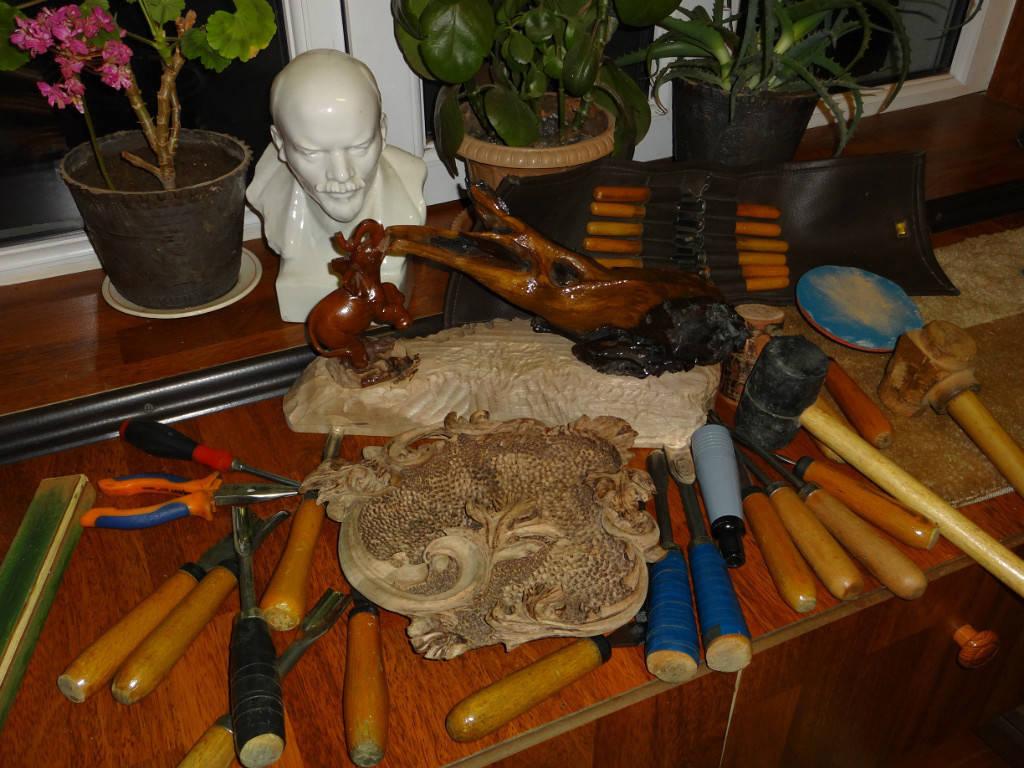 резьба по камню кости дереву