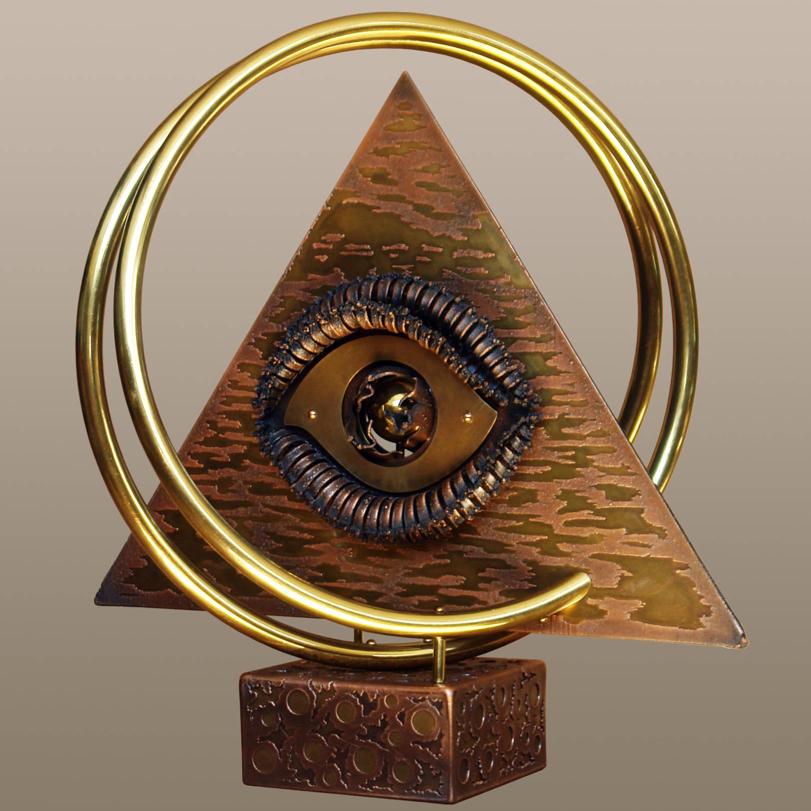 «Взгляд из гробницы фараона в третье тысячелетие»   (медь, латунь)  55х40х48 см