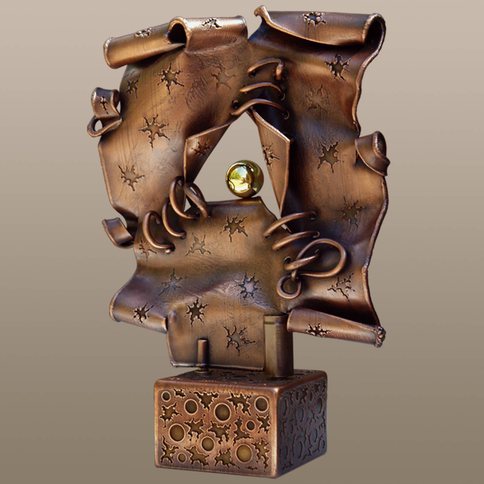«Душа в плену у разума»   (медь, латунь)  44х32х12 см
