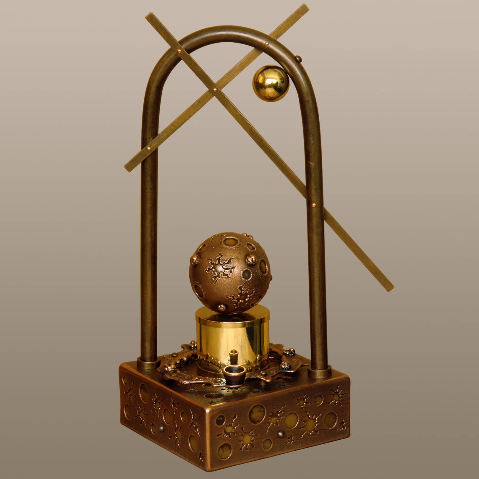 «Иллюзия триумфа, как реальность поражения»   (медь, латунь, анодированная сталь)  18х15х36 см