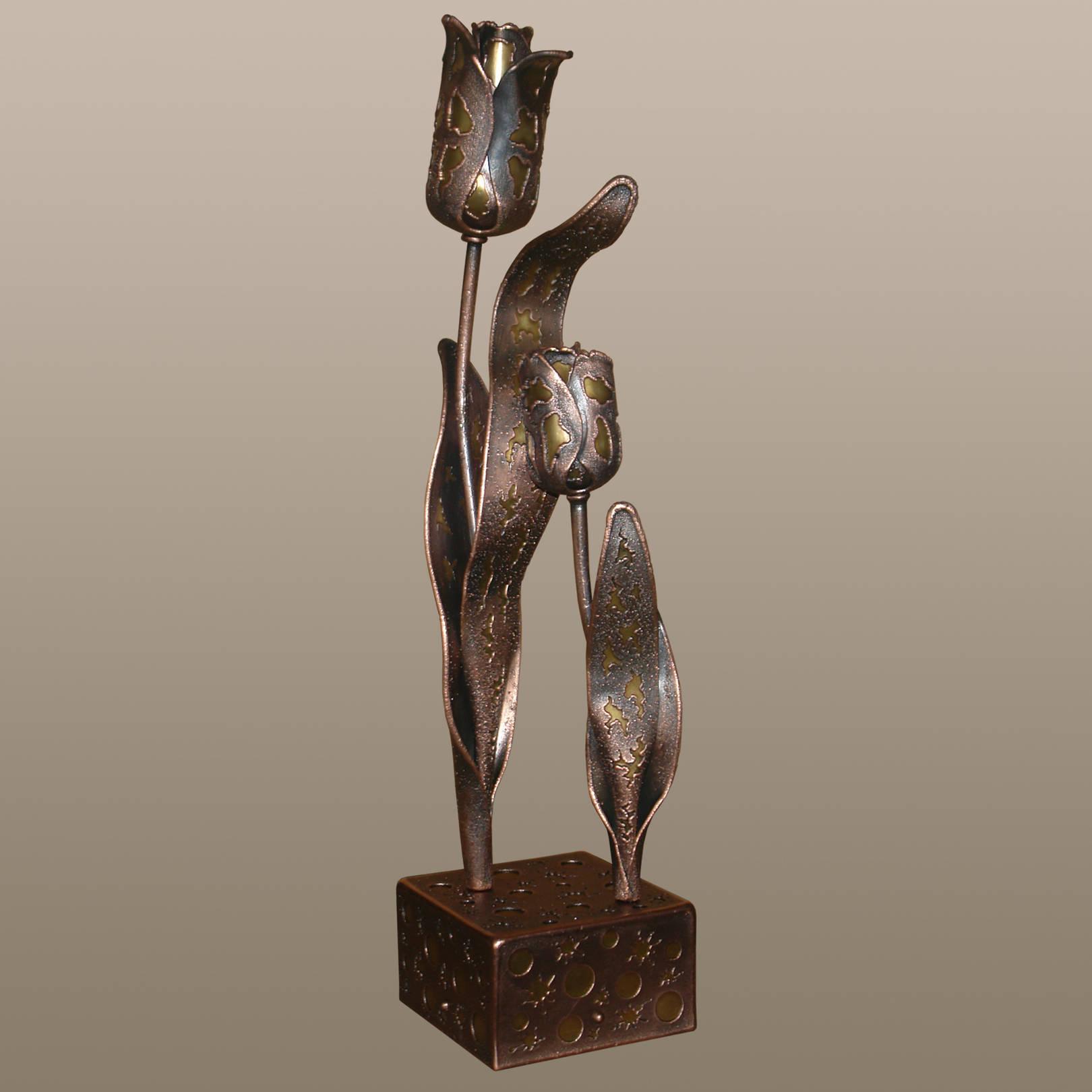 «Нежность»    (медь, латунь)  12,5х12х52 см
