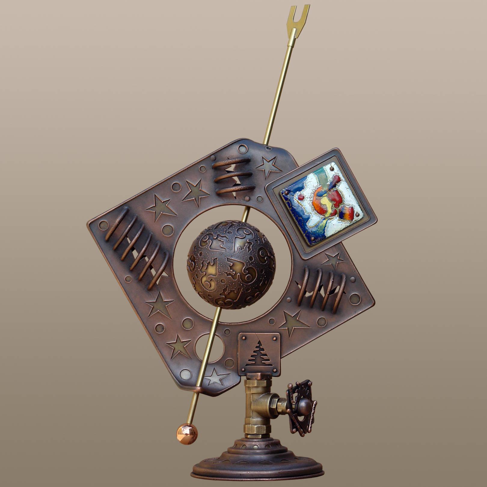 «Парад планет»   (медь, латунь, горячая эмаль)  68х18х43 см