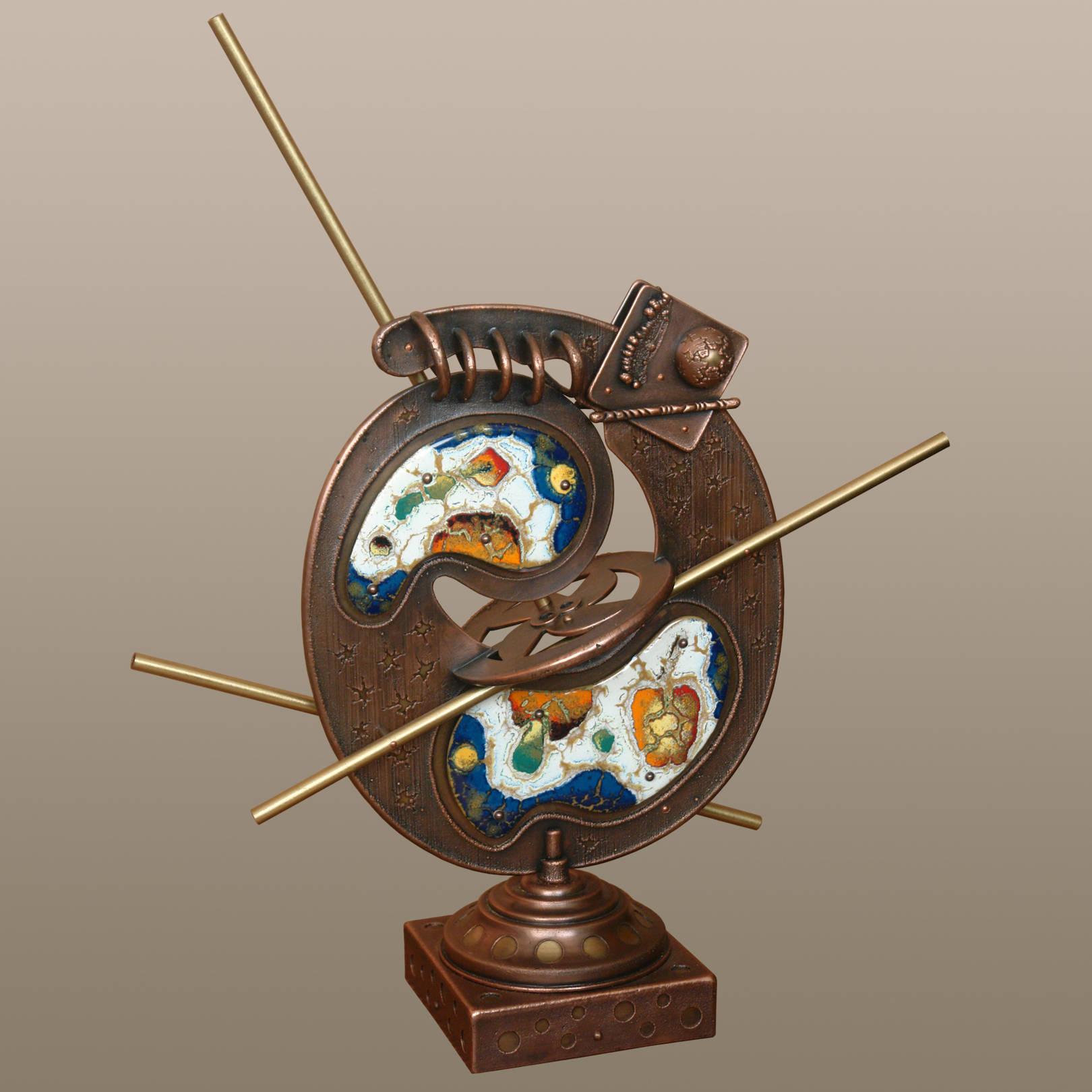 «Петля Мёбиуса. Попытка выхода за…»   (медь, латунь, горячая эмаль)  60х51х16 см