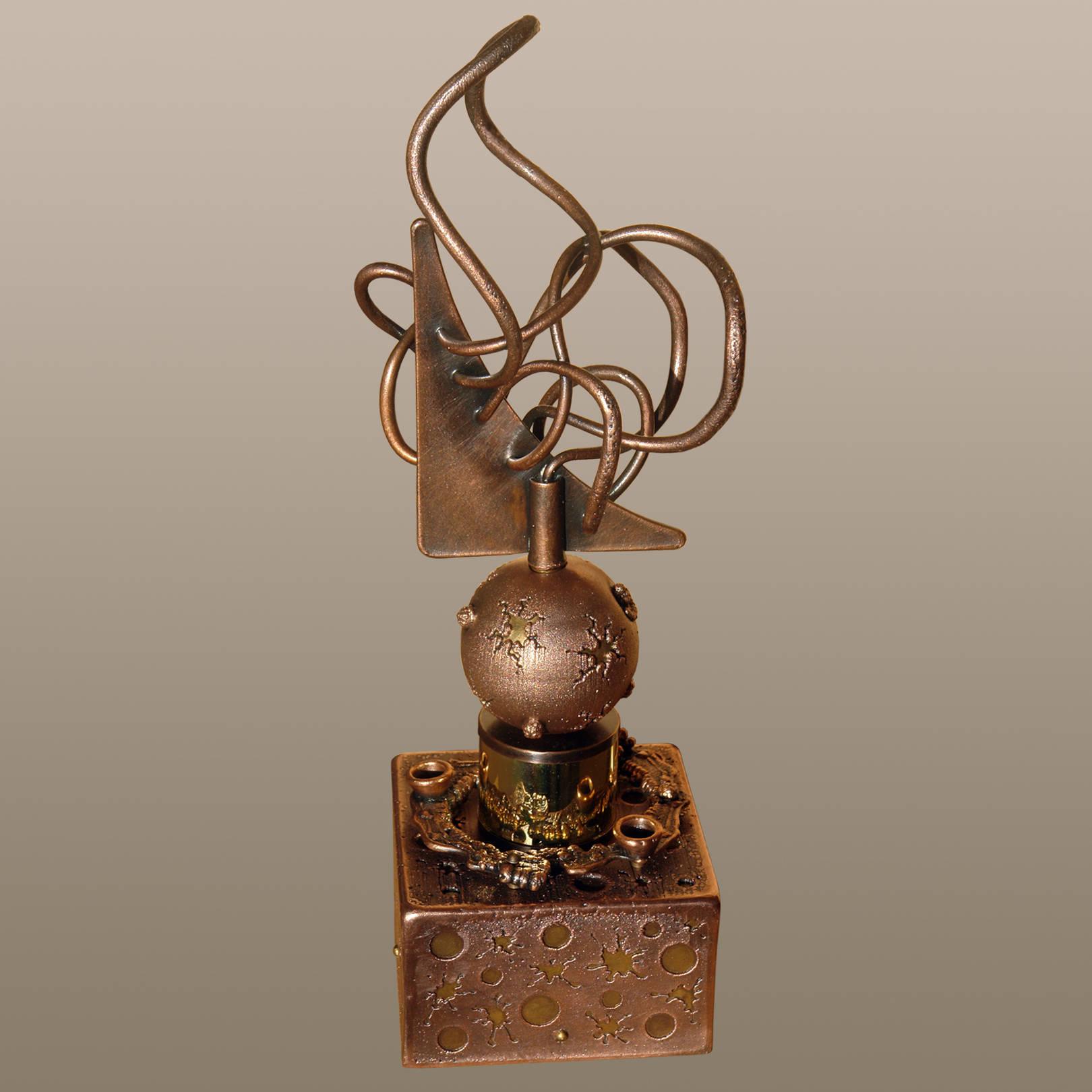 «Погружение в мираж»   (медь, латунь, анодированная сталь)  44х16х15 см