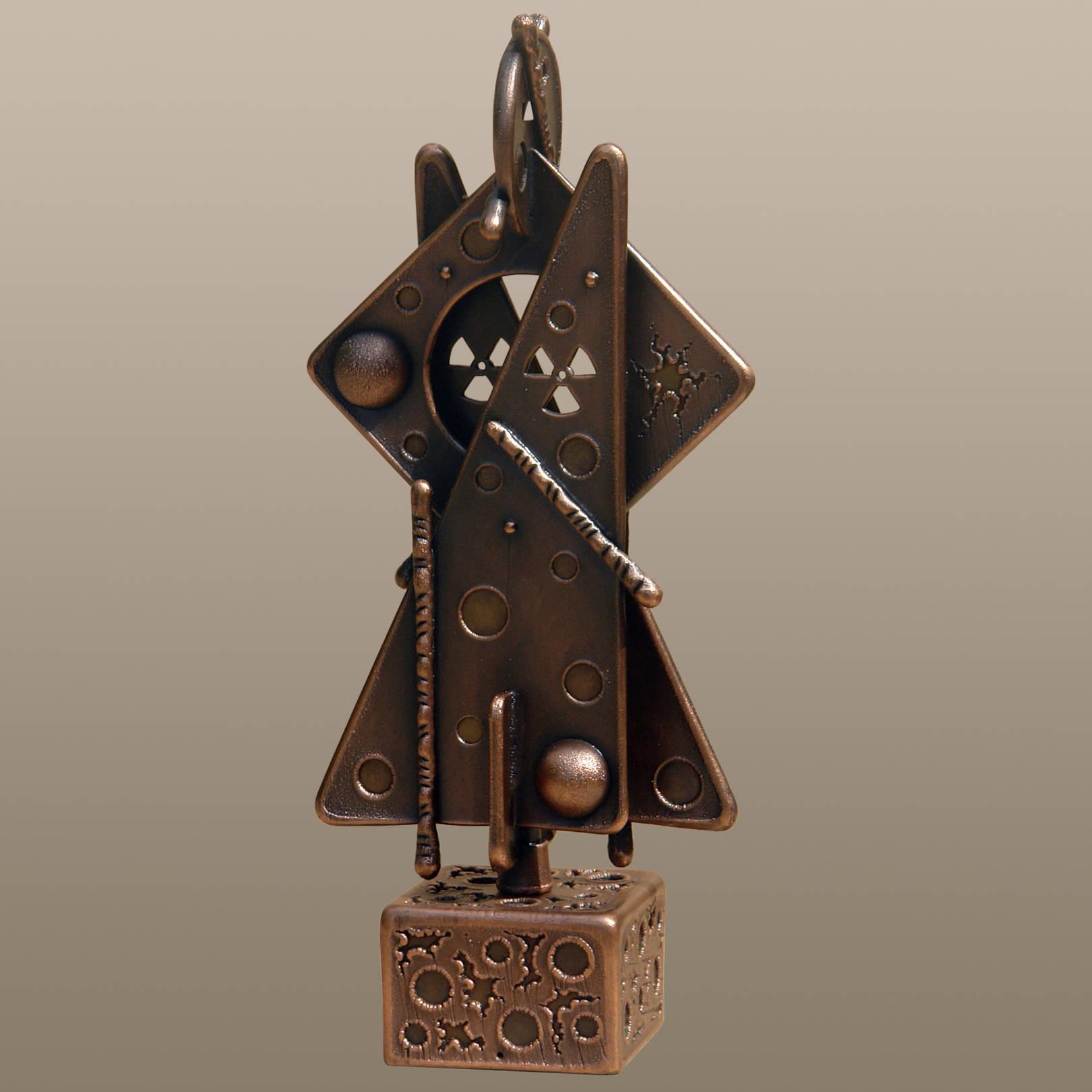«Последний самурай Фукусимы»   (медь, латунь)  33х14х08 см