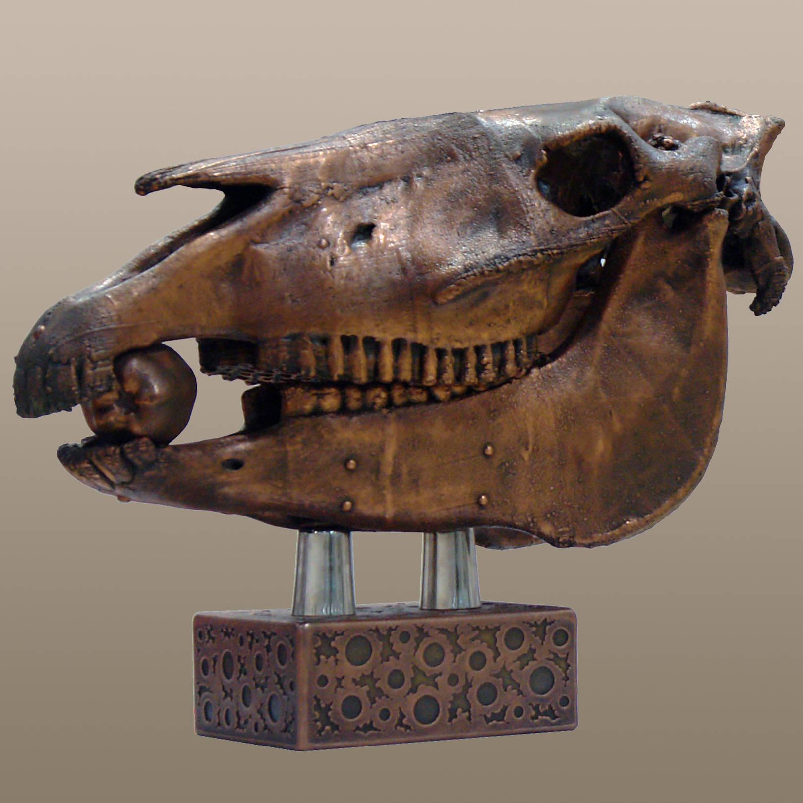 «Предостережение волхвов не только для вещих»   (медь, латунь, сталь)  40х25х57 см