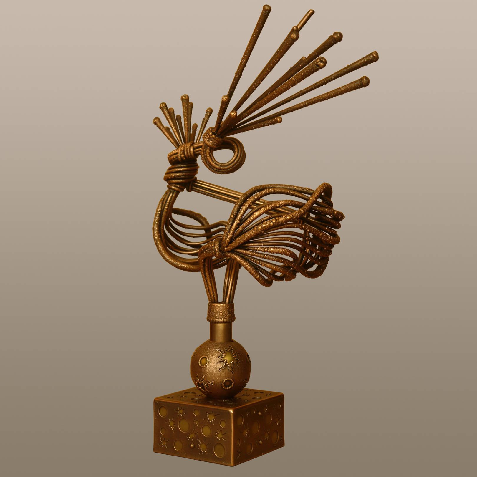 «Птица счастья завтрашнего дня»   (медь, латунь)  31х20х47 см