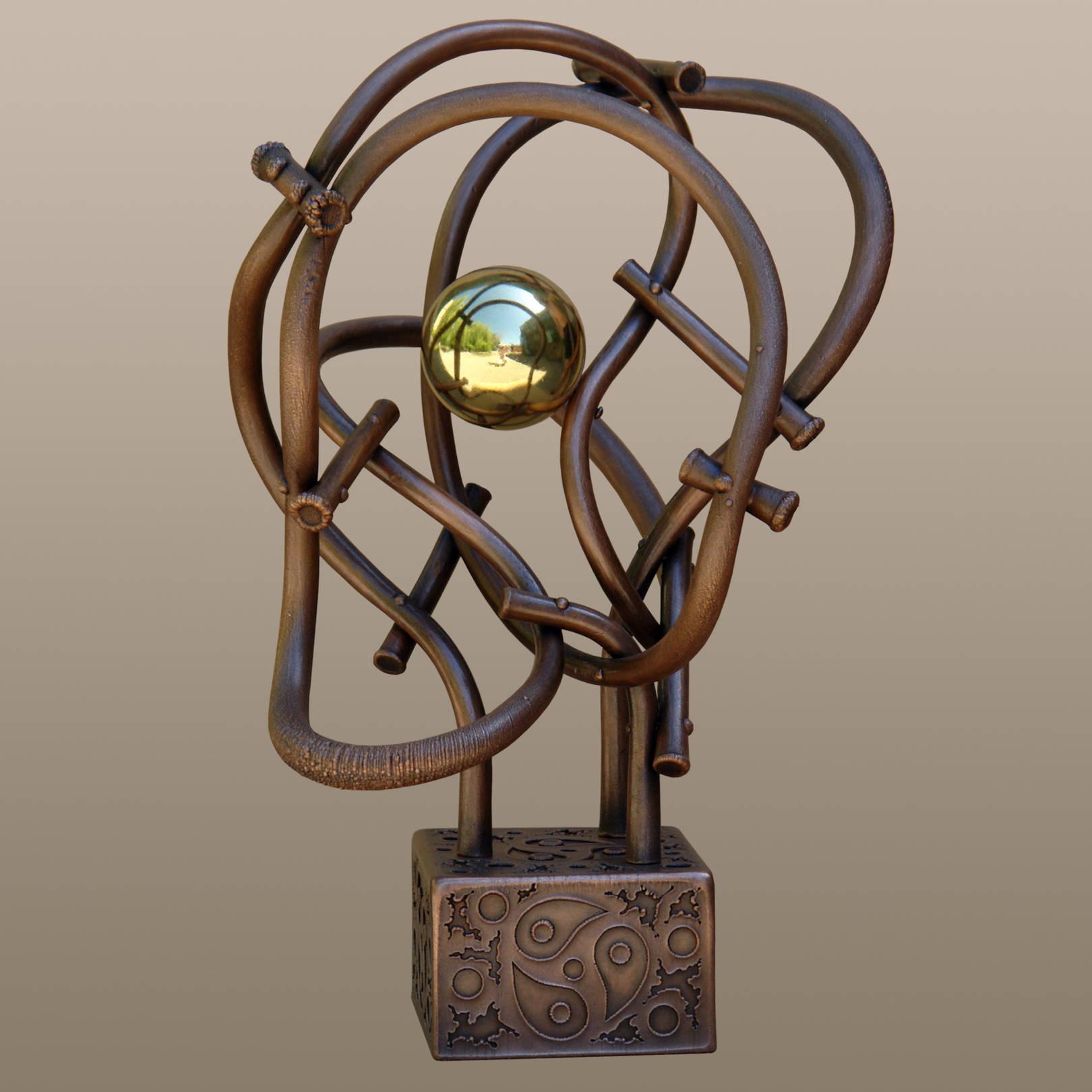 «Три времени в бесконечности нескончаемости движения»   (медь, латунь)  46х25х29 см