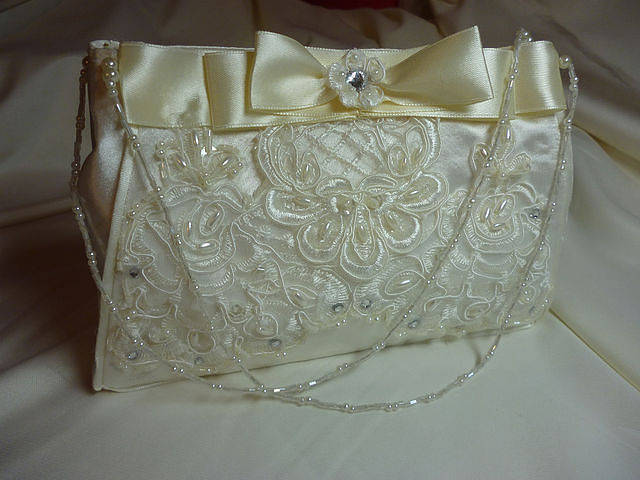 wedding handbag ivory