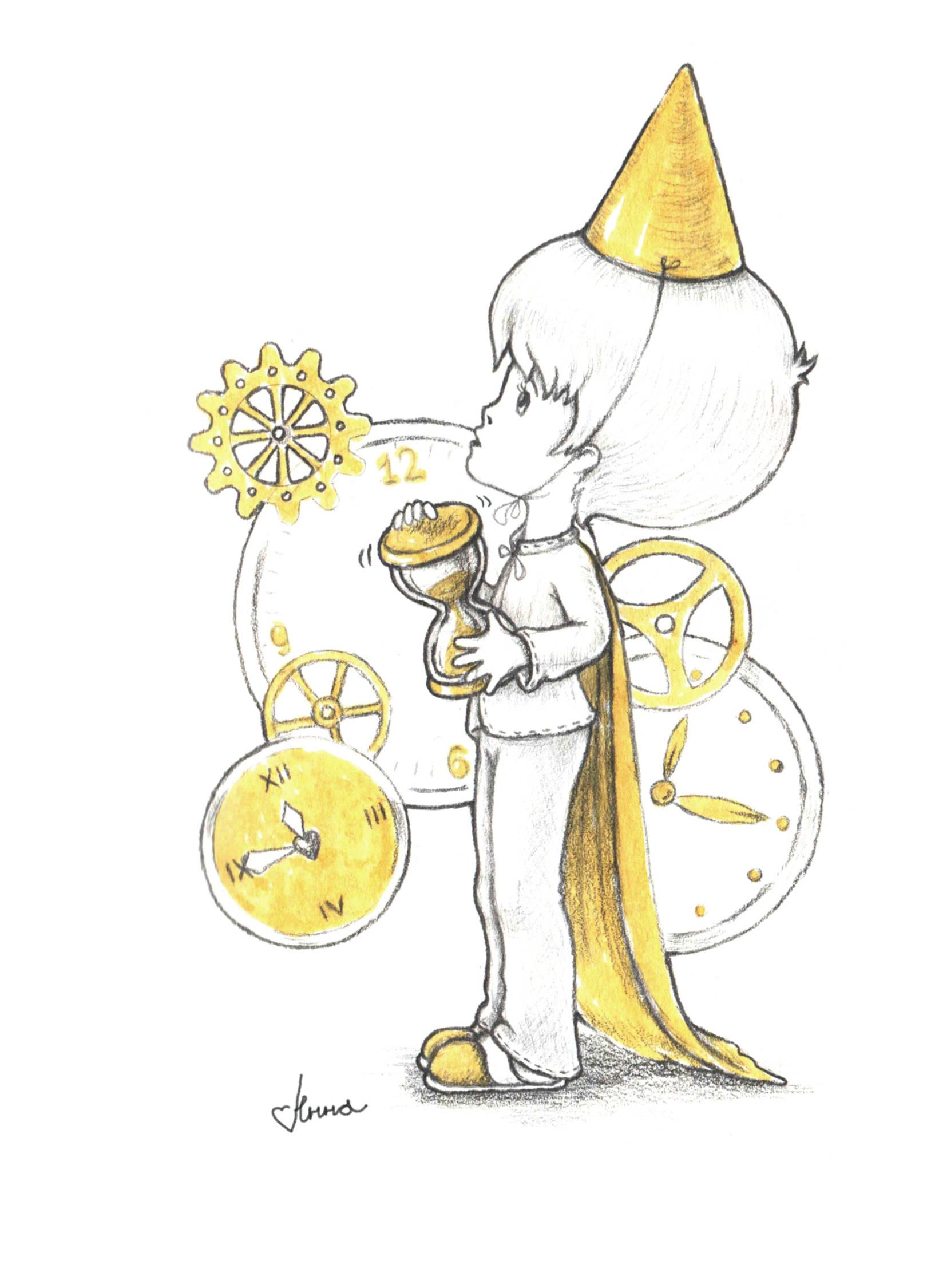 """""""Мальчик - время"""". Серия """"Детские шалости"""". Графика, 2016 год.   Время так скоротечно... Время истекает... Время покажет..."""