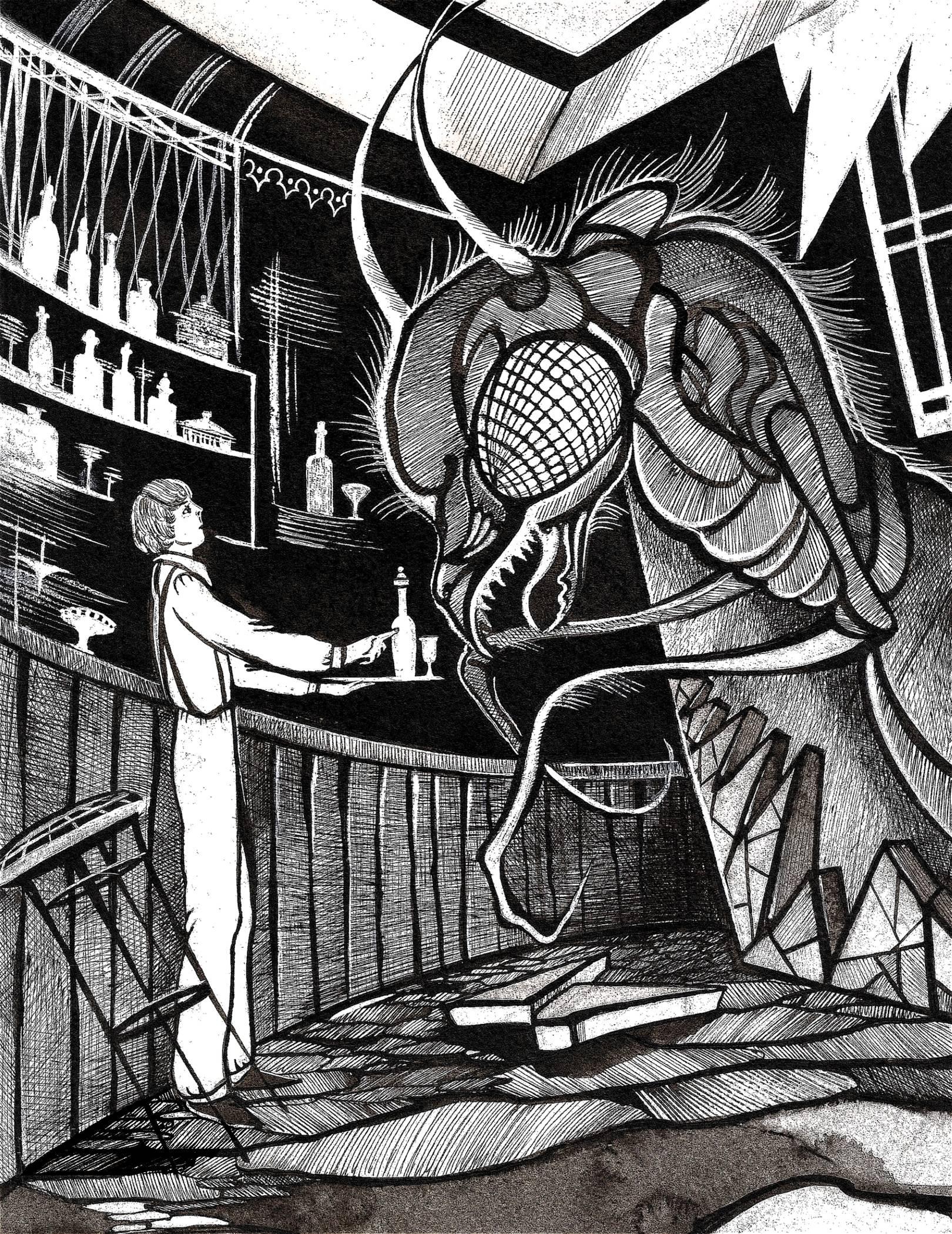 Оракул (сборник рассказов) Роберт Блох. Иллюстрация.