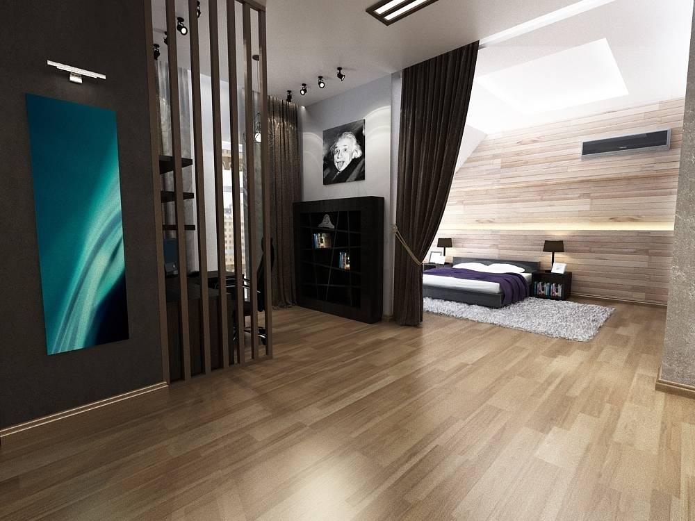 Вид на спальную и кабинетную зону
