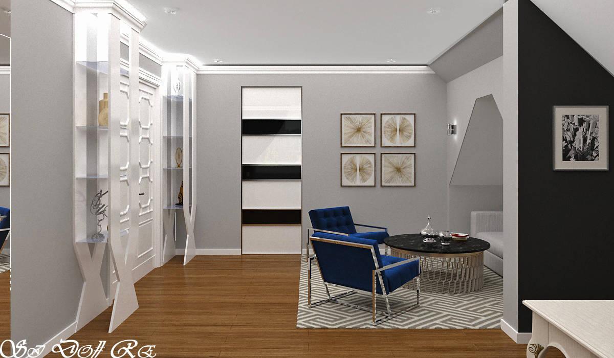 Дизайн мансарды в 3-хэтажном коттедже