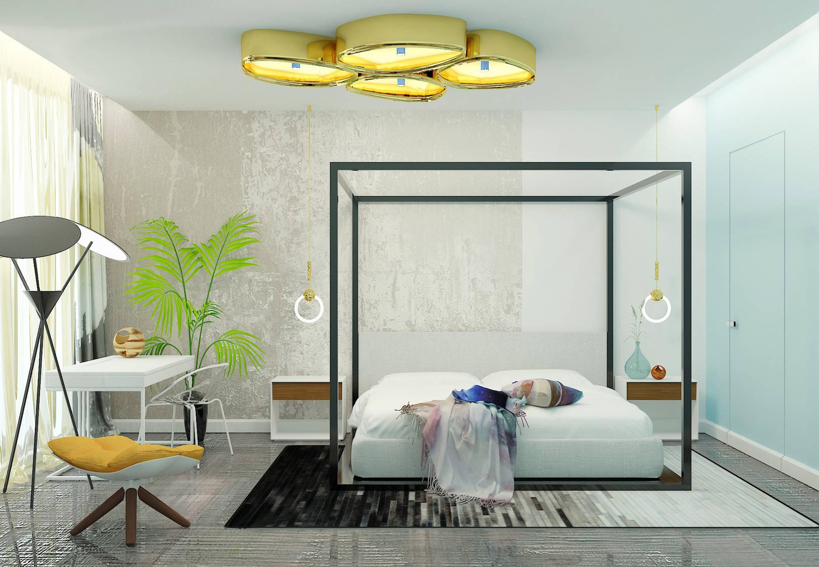Дизайн интерьера номера в отеле с использованием принта для конкурса HEIMTEXTIL. The interior design of rooms at the hotel with the use of the print for the competition HEIMTEXTIL.