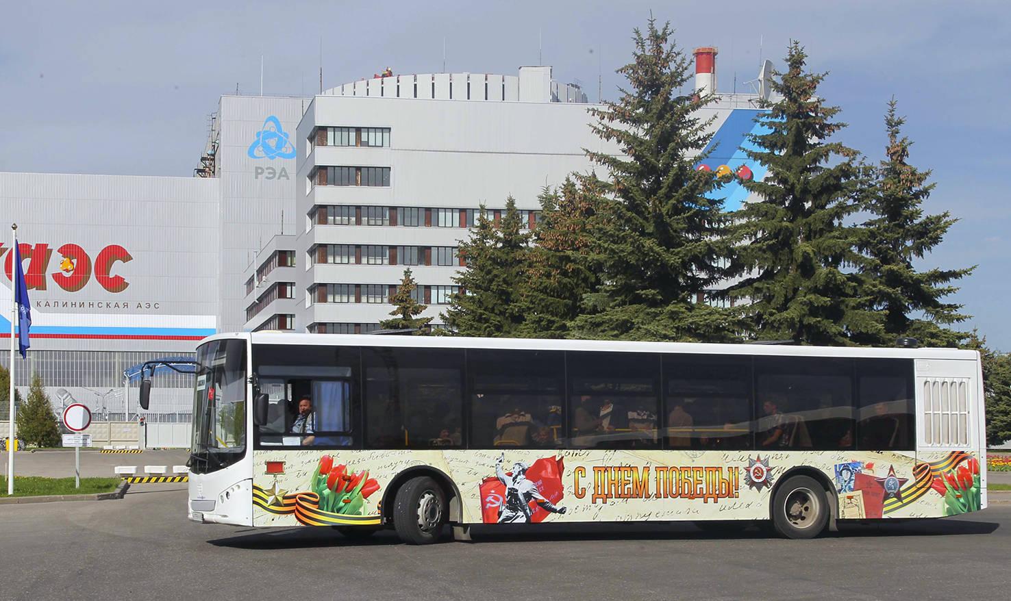 Городской праздничный автобус к 9 мая, 2016