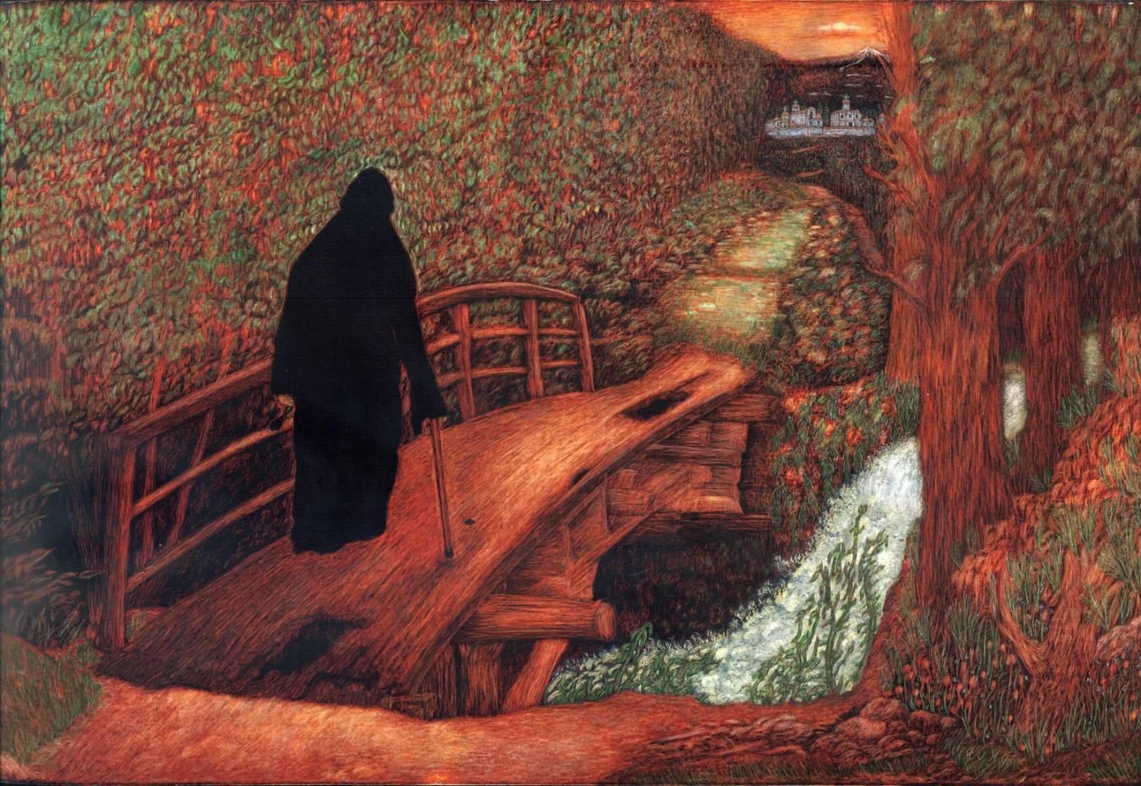 Дорога в монастырь закат