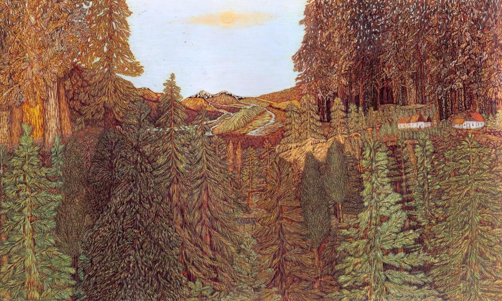 Деревня в лесу