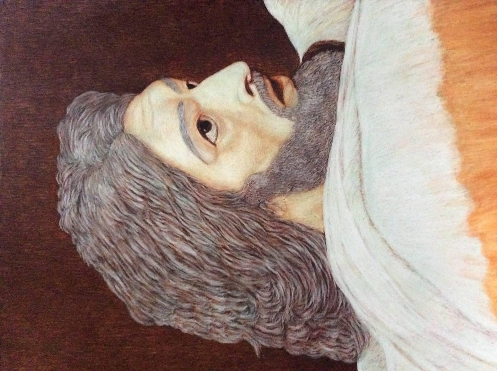 Иоанн Креститель Копия с картины Иванова Явление Христа народу