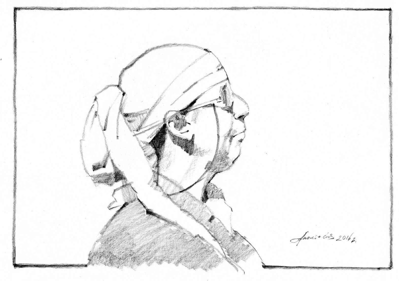 18х27, карандаш