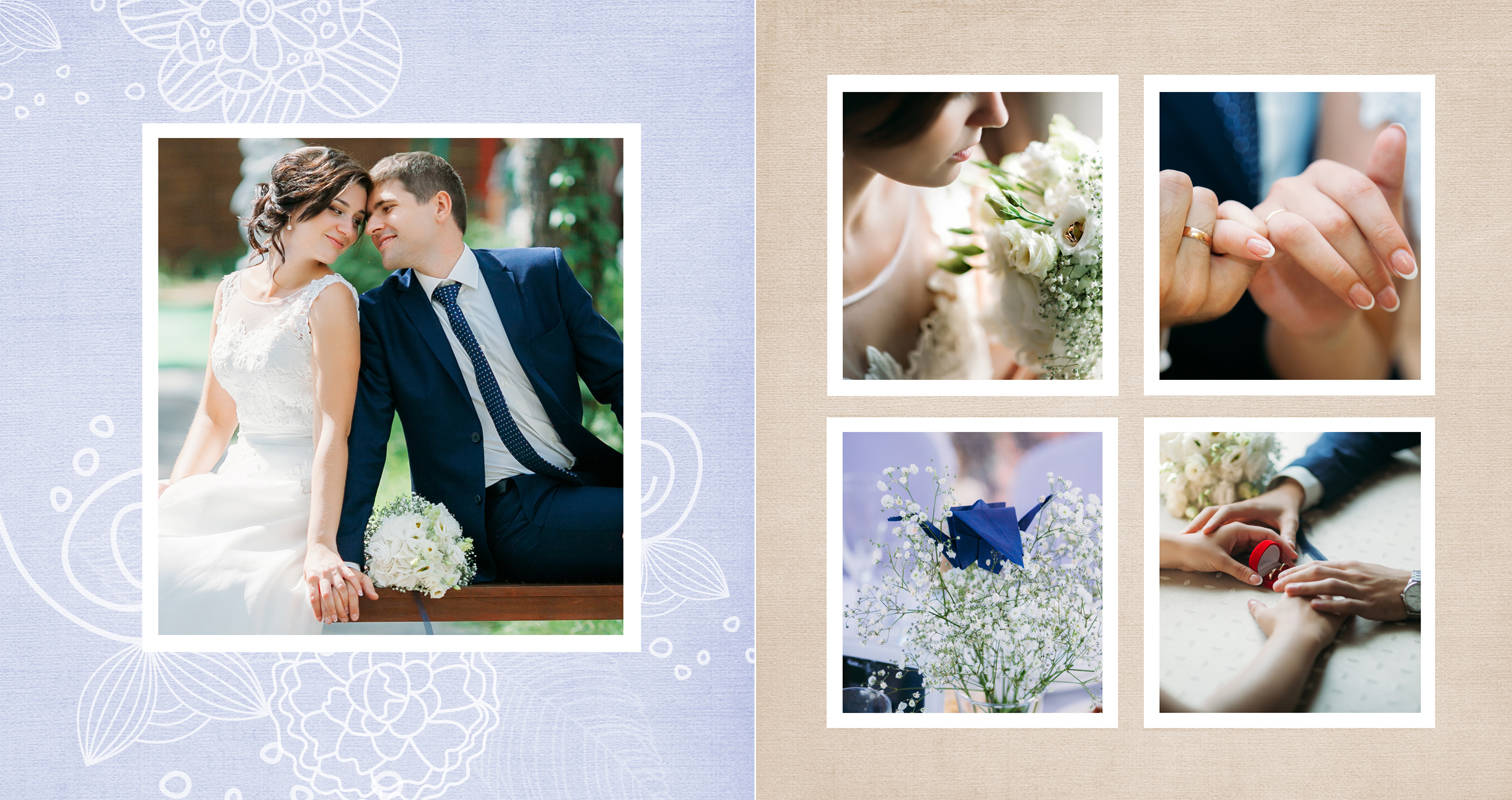 Дизайн верстка свадебного альбома