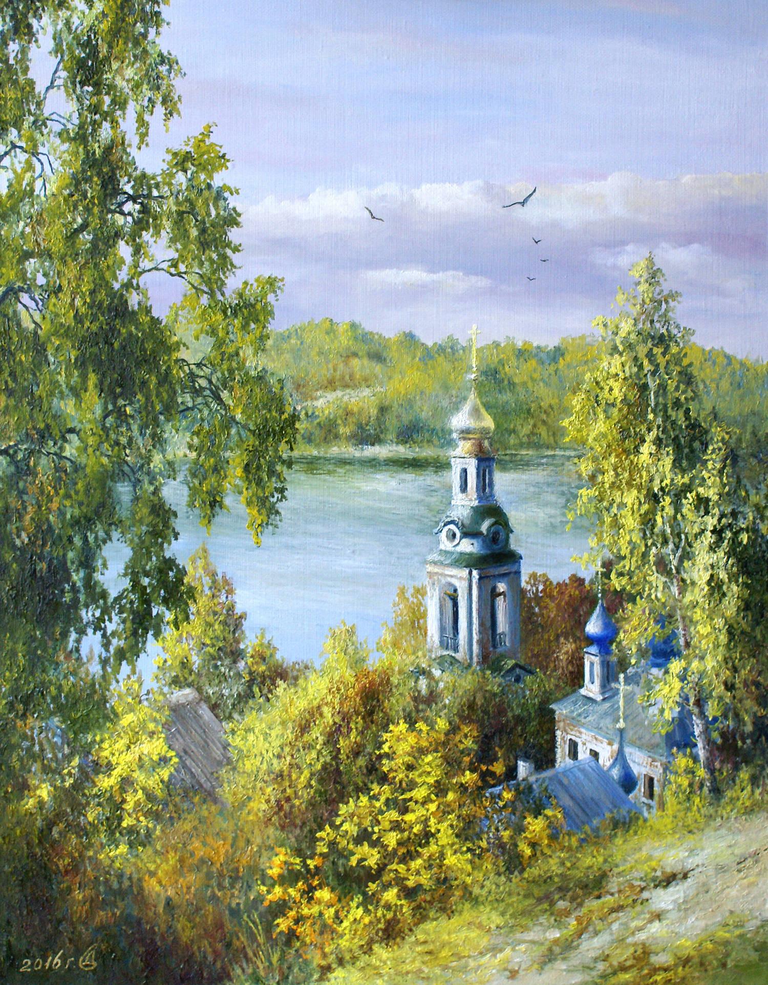 """Осенняя благодать"" - х/м, 45х35"