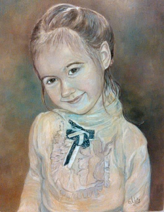 Портрет девочки, холст, масло, 40*30, 2015