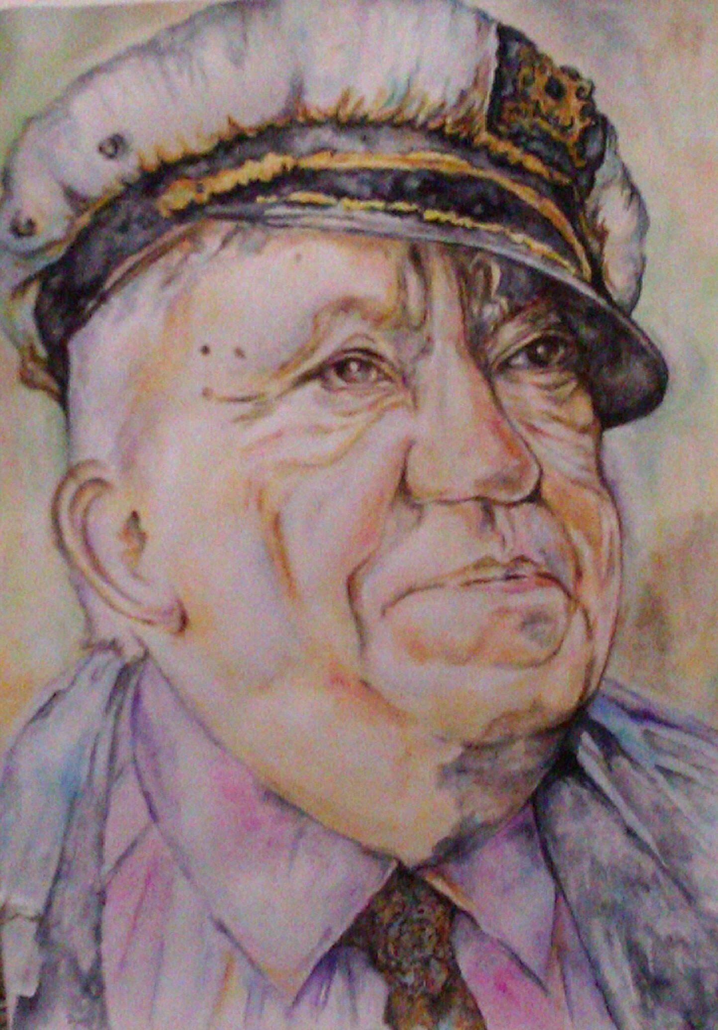 Портрет артиста, акварель. бумага, 40*30, 2012 год