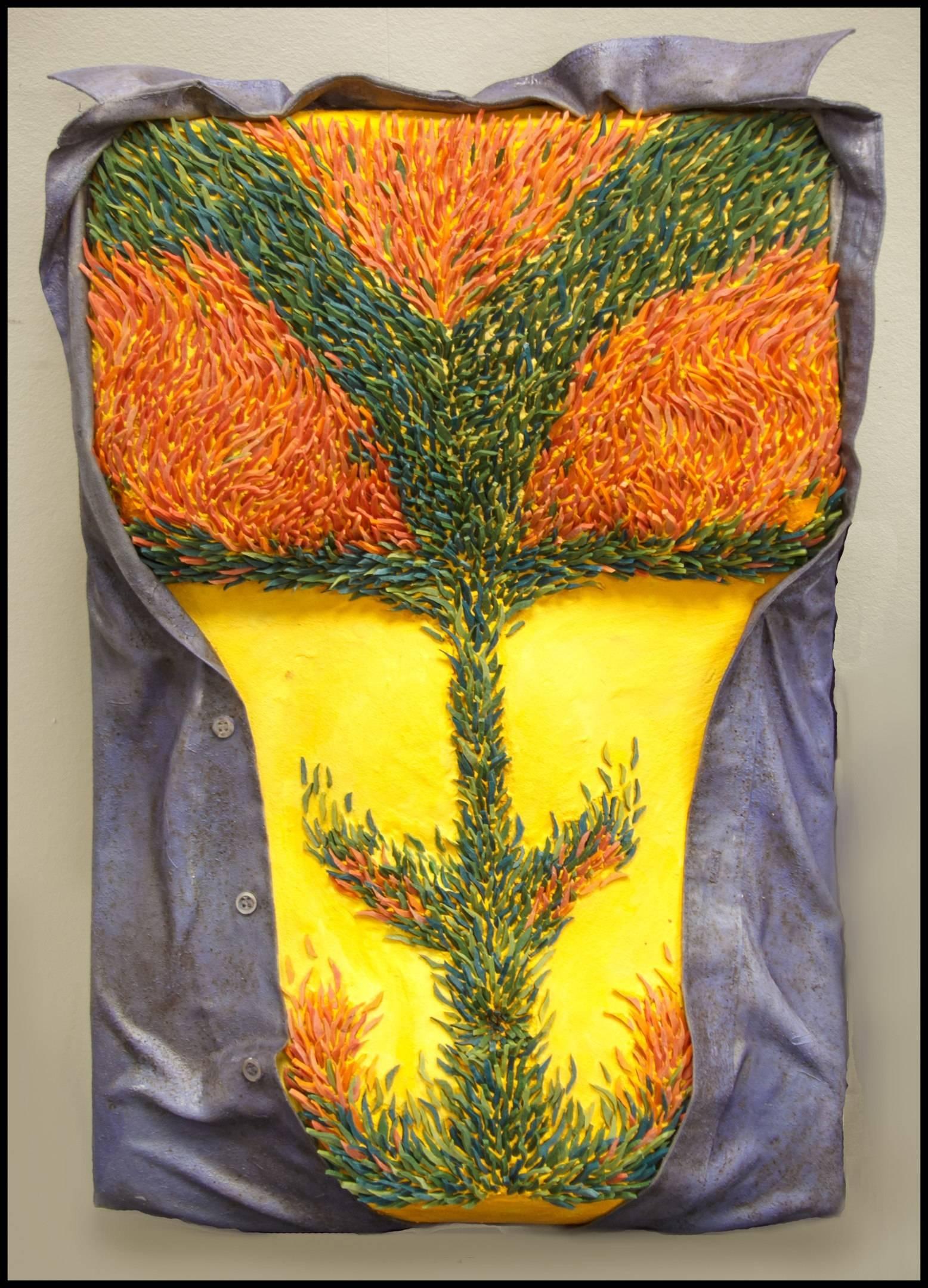 """""""Мохнатый торс Гогена"""" 60х40см. смальто-керамика, пеноплекс, гипс, смола"""