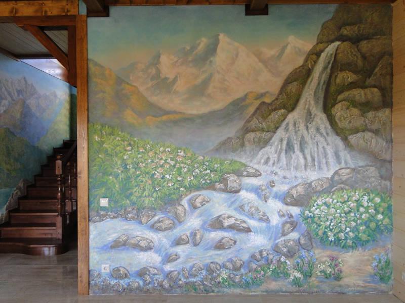"""Роспись стен """"Природа Абхазии"""""""