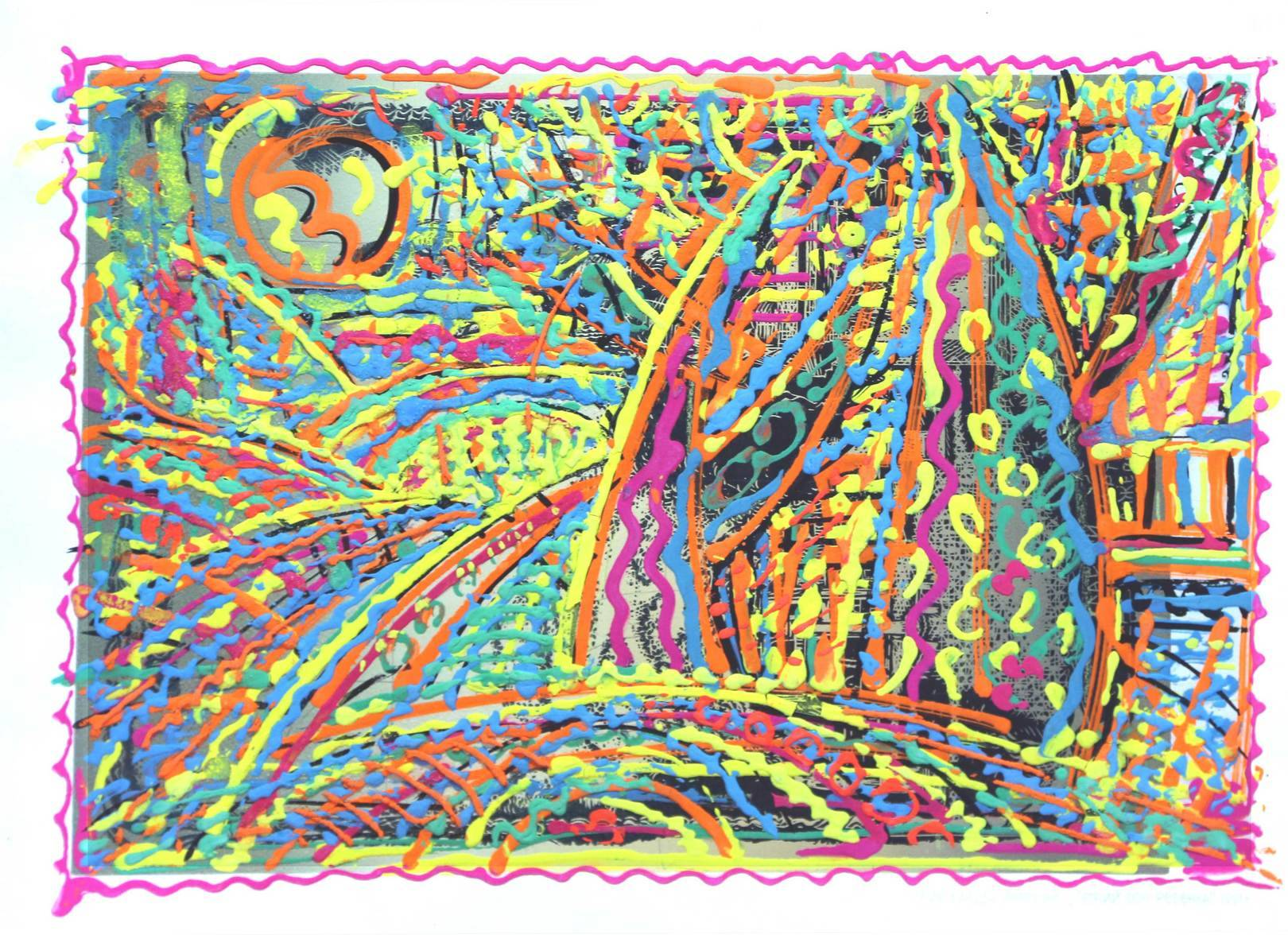 """""""ЛЕТНИЙ СОН РЕБЁНКА"""",  картон, гуашь, 38х50см SUMMER DREAM CHILD 1991 38х50 сm cardboard, gouache"""